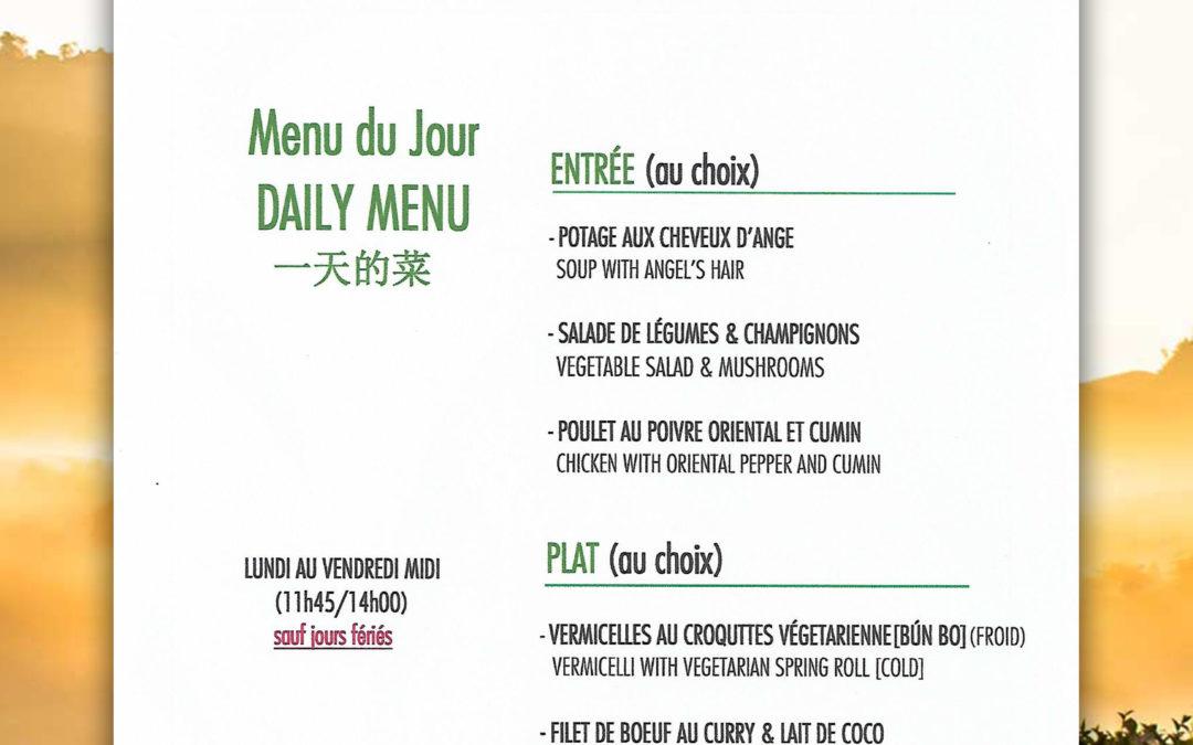 menu de la semaine du 03 au 07 JUIN
